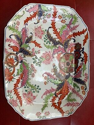 TOBACCO LEAF CHINESE PLATTER ANTIQUE  EXCELLENT CONDITION !!! 18th-19th