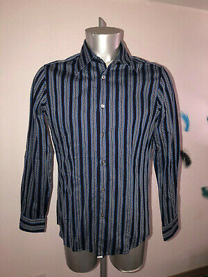Pretty Shirt Printed Blue Hugo Boss Size M like New