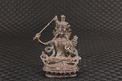 Blessing Chinese old bronze buddha statue figure Home Deco collectable gift