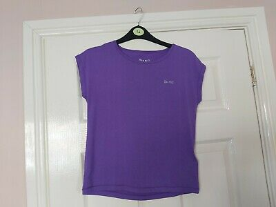 S6 Girls Usa Pro Lilac Sleeveless Round Neck Stretch Sport Top Age 11-12 Years