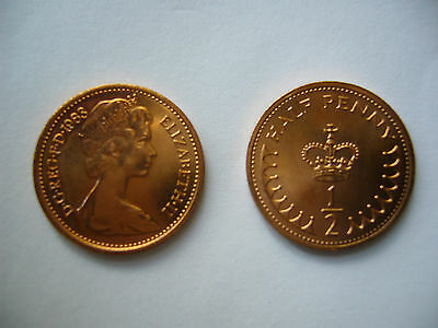 1983 Decimal half pence coins- NEW - UNCIRCULATED