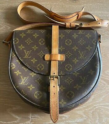 Authentic LOUIS VUITTON Chantilly GM Monogram Canvas Crossbody/Shoulder Bag