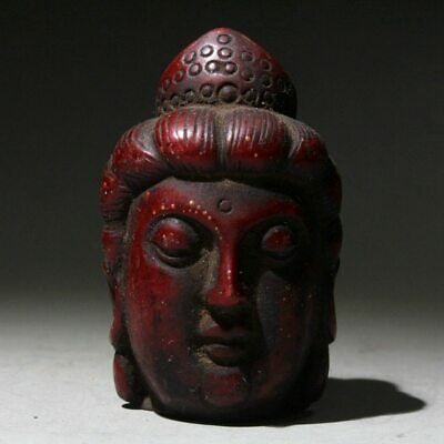 China Collectable Shoushan Stone Hand-Carved Kwan-yin Head Exorcism Luck Statue