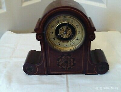 Antique mantel clock movement and case for spares or repair