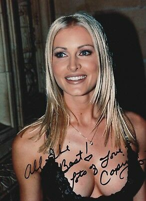 Caprice Bourret Authentic Signed 10X8 Photo Aftal#198