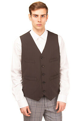RRP €165 CANALI Waistcoat Size 52 / XL Wool Trim Rain Protection Made in Italy