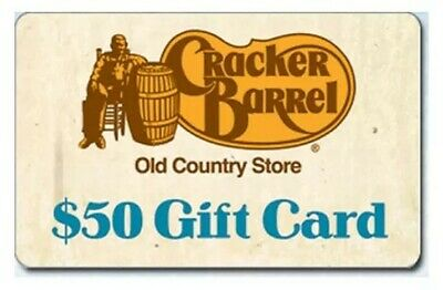 Cracker Barrel $50 Gift Card Certificate | FAST FREE SHIPPING