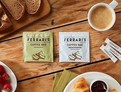 Ferraris Coffee Bags 50 pack | Perfectly brewed filter coffee |