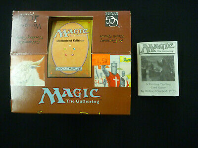 Empty Magic the Gathering mtg UNLIMITED Starter Box with 1 Rule Book EMPTY