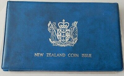 1982 New Zealand 7 Coin Proof Set ~ Contains $1 Sterling Silver Takahe Coin