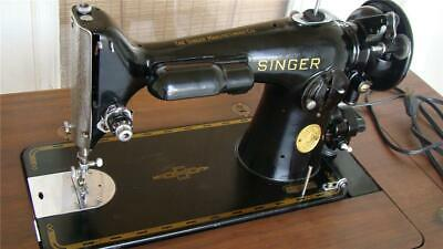 Singer 201-2 Sewing Machine with Cabinet
