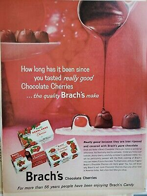 Lot of 3 Vintage Brach's Ads Chocolate Covered Cherries