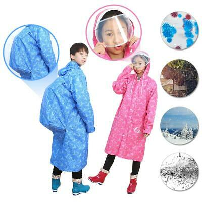 Kids Boys Girls Rain Coat Poncho Waterproof Emergency Raincoat Outwear Outdoor