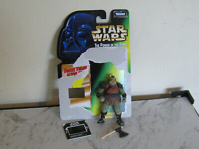 Star Wars Potf Gamorren Guard Figure With Access & Card & Slide-Used