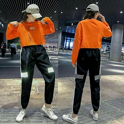 HIPHOP Mens Womens Casual Baggy Dance Gym Sport Jogger Sweat Pants Trousers