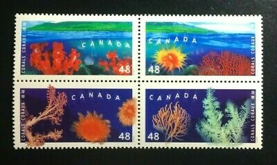 Canada #1948-1951a MNH, Corals Block of Stamps 2002