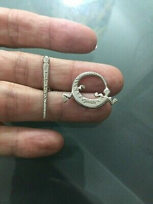 Lizard Sterling Silver 925 Toggle Clasp Findings Beading Craft USA - NEW