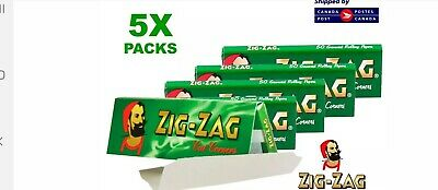 5 Packs - Zig Zag Green Rolling Papers FREE SHIPPING from Quebec Canada