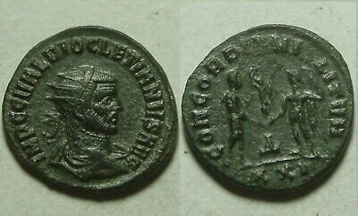 Rare Genuine ancient Roman coin Diocletian Jupiter Victory AE Antoninianus 286AD