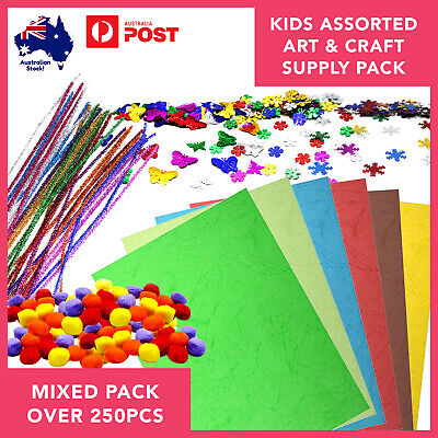 Children Art/Craft Bundle over 250pcs Kids School Holiday Project Boredom Buster