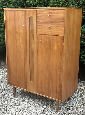 Superb Walnut Retro   Alfred Cox Combination Child`s Wardrobe/Cabinet