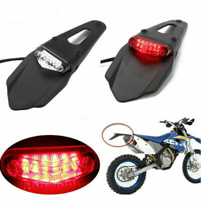 Enduro Motocross MX Street Stop Rear Tail Light And Number Plate Flap Trials