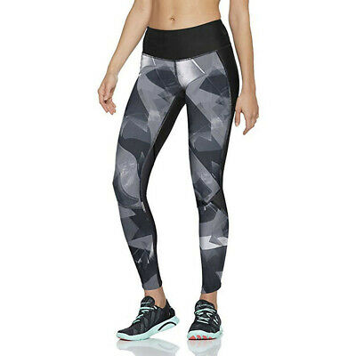 Under Armour Womens Fly Fast Printed Running Tights Bottoms Pants Trousers Black
