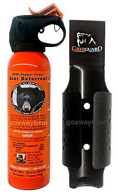 UDAP 12VHP Pepper Power Bear Spray Repellent w/ NEW Griz Guard Holster 7.9oz NEW