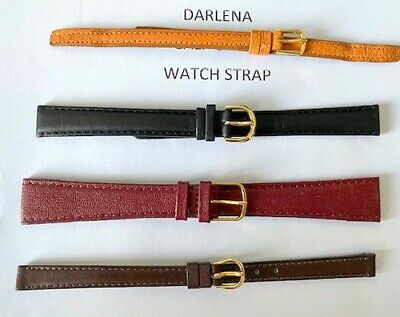 Ladies Darlena X Long  Genuine Stitched Leather Watch Strap 8 Mm 10Mm 14Mm 20 Mm