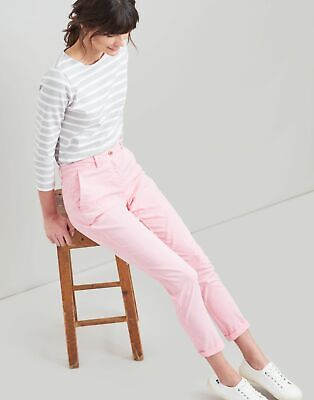 Joules Womens Hesford Chino - PALE PINK Size 14