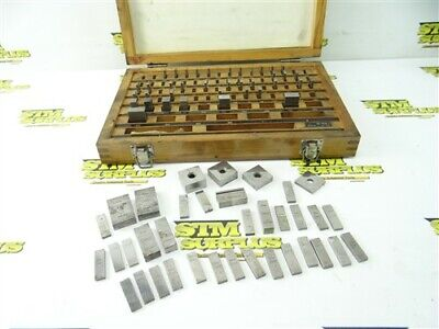 "Lot Of Assorted Machinists Gage Blocks Webber Mitutoyo Jis .1002"" To .900"""