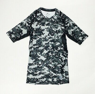 Nike Pro Digital 1/2 Dri-FIT Short Sleeve Compression Men's Large Camo 889172