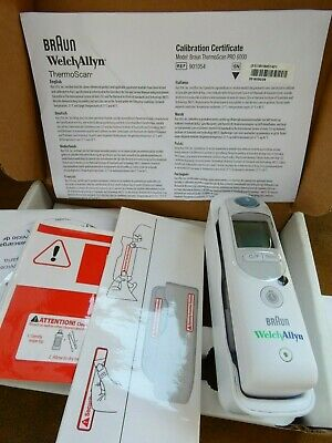 Welch Allyn Braun Thermoscan PRO 6000 Ear Thermometer With Small Cradle
