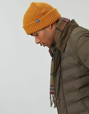 Joules Mens Bamburgh Knitted Hat - BROWN in One Size