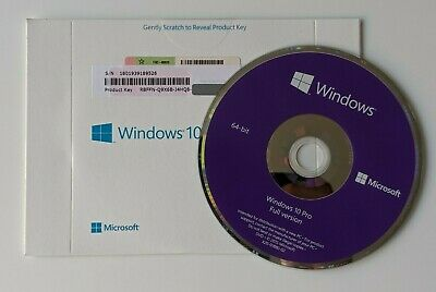Genuine Microsoft Windows 10 Professional 64 bit OS With License Full System
