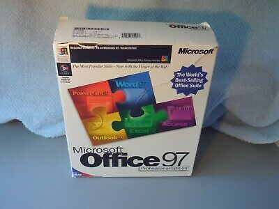 Microsoft Office 97 professional edition CD Manual Complete In Original box