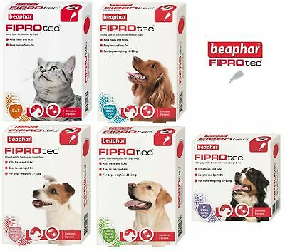Beaphar FIPROtec Flea Spot On Small Medium Large XL Dog or Cat 1 4 6 Treatments