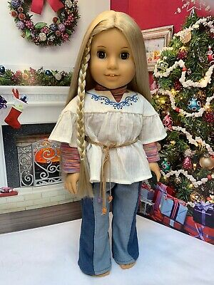 """American Girl Julie Albright 18"""" Doll In Historical Meet Outfit. EUC"""
