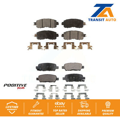 Front Rear Semi-Matllic Brake Pads Pair For Nissan Altima Leaf