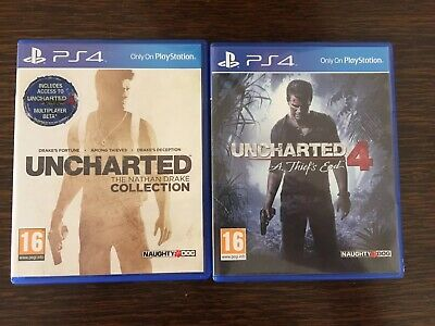 PS4 Games Uncharted 'Nathen Drake' Collection & Uncharted 4 'A Thiefs end'.