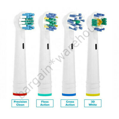 Electric Toothbrush Heads Compatible With Oral B Braun FAST & FREE DELIVERY