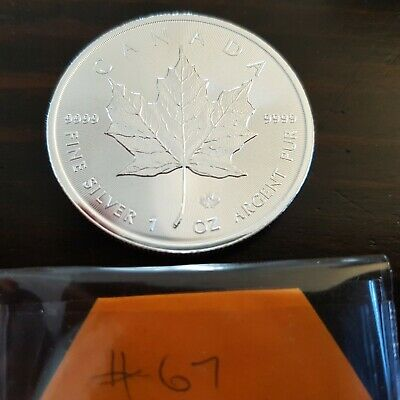 2018 1 oz Canadian Silver Maple Leaf Coin 1 Troy Ounce of 9999 Fine Silver