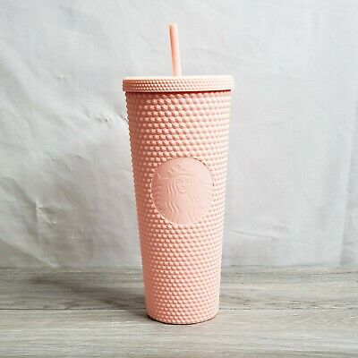 IN HAND Starbucks Spring Collection 2020 Matte Pink Studded Tumbler 24oz NEW