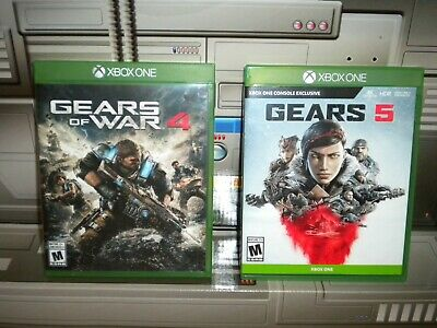 Xbox One Game Lot Gears Of War 4 Gear 5 used read.
