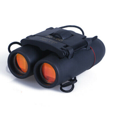 Outdoor Travel 30 x 60 Zoom Folding Day Night Vision Binoculars Telescope + Bag.