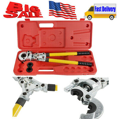 Hydraulic Pipe Crimping Tools Manual Kit Copper Pipe Clamp 6Ton With Case