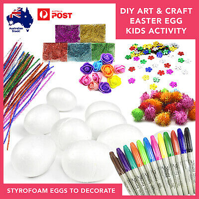 DIY Styrofoam Easter Egg Decorating Kit Kids Art & Craft School Holiday Activity