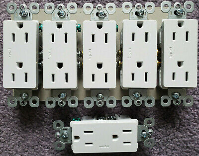 Legrand (Pass&Seymour) Outlet Radiant White 15 amp  - 6 OUTLETS