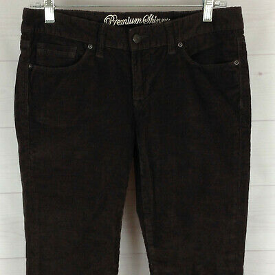 GAP Premium Skinny womens size 6 x 32 stretch dark brown low rise corduroy pants