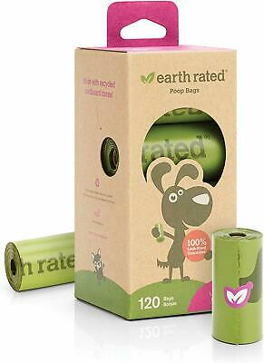 Earth Rated Extra Thick and Strong Dog Poop Bags for Dogs - 120 Bags, 8 Rolls